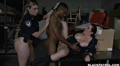 Threesome, Tits, Ass licking, Face sitting, Femdom cumshot, Chubby rides big black cock
