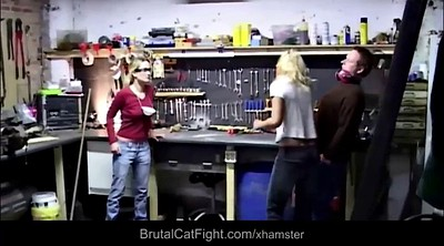 Fight, Catfight, Cat, Hard fuck, Work, Spanked and fucked