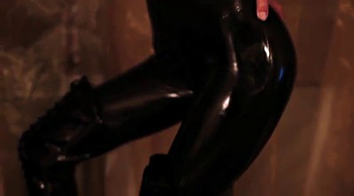 Latex, High boots, Black girls, Thigh, Latex girl, Catsuit