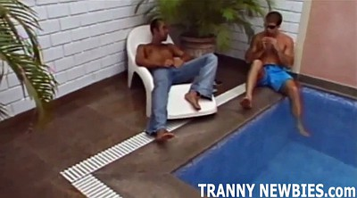 Tranny, Shemale threesome