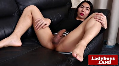 Shy, Asian ladyboy