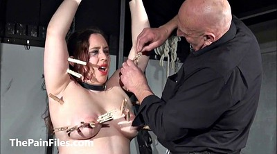 Spank, Torture, Leather, Breast, Tit torture, Breast bondage