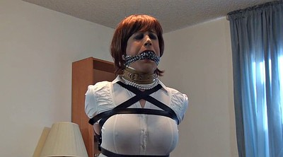 Mask, Crossdresser bondage