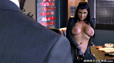 Romi rain, Office, Big tit, Leather