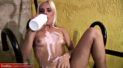 Milking, Creamy, Shemale cum, Milk big, Teen milk