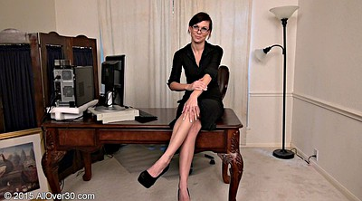 Office milf, Skinny mature, Office masturbation