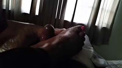Mature footjob, Mature feet, My friends, Mature foot