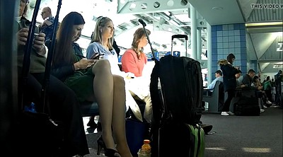 Nylon foot, Nylon foot fetish, Nylon feet, Nylon pantyhose, Candid feet, Airport
