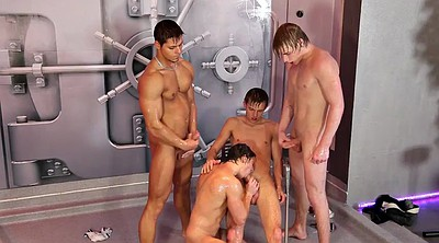 Stripped, Shower gay, Shower group, Group shower