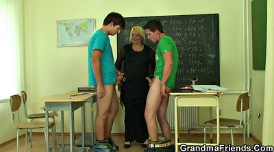 Mature granny, Old teacher, Very young, Teen boy, Granny boy, Mature young boy