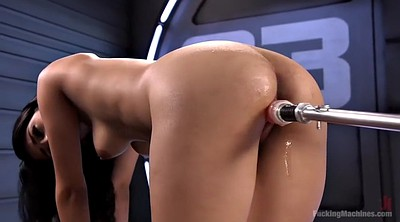 Machine, Hairy solo, Machine orgasm, Sophia leone