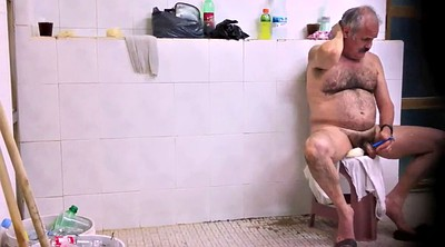 Daddy old, Old gay, Gay daddy, Shower hairy, Hairy bathroom, Naked public