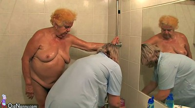Nurse, Granny hairy, Private, Washing