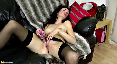 Slim mature, Lingerie mom, Fuck mom