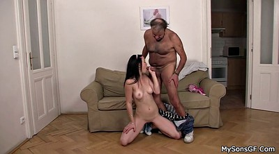 Old young, Sons, Granpa, Teen son, Fuck sons, Czech granny