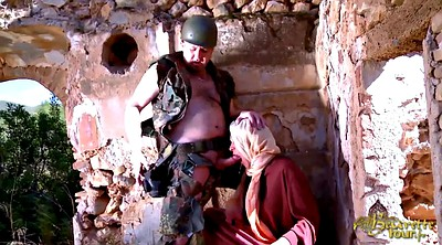 French, Arabic, Soldier, Big woman, Big arab, Arab blowjob