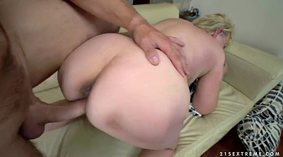 Granny ass, Riding, Old and young, Granny facial