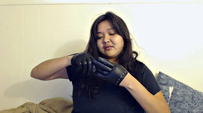 Glove, Leather, Gloves, Dee, Leather fetish, Milf casting