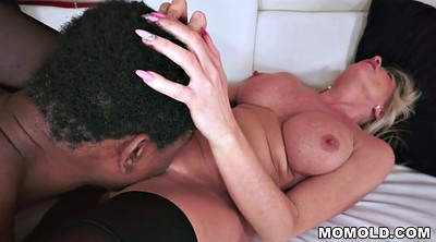 Mature interracial, Ebony busty