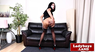 Latex, Asian shemale solo, Asian ladyboy, Shemale latex