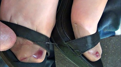 Nylon, Nylon feet, Stockings foot, Satin, Nylon foot, Stockings feet