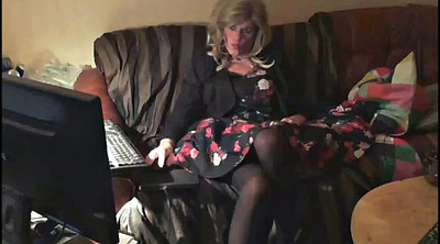 Crossdress, Mature solo, Gay mature