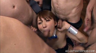 Handjob cum, Cum on face, Asian gangbang