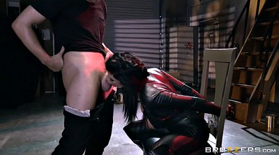 Boots, Romi rain, Leather, Cum in throat, Fuck in bondage, Cum in face