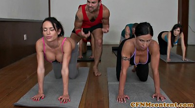 Yoga, Housewife, Girls group, Yoga sex, Sex yoga