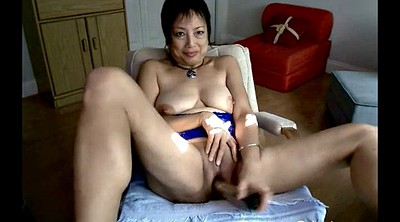 Asian granny, Asian mature, Mature dildo, Mature webcam