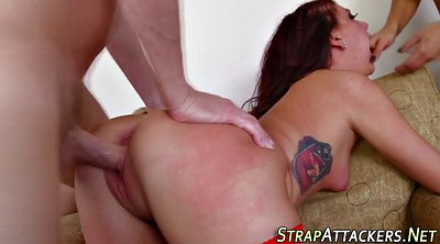 Strapon anal, Young couple anal