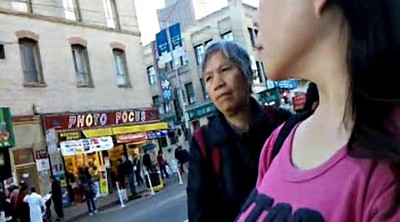 Bus, Chinese milf, Chinese granny, Asian granny