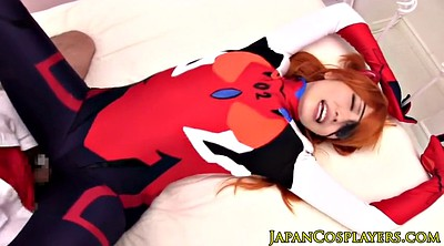 Cosplay, Japanese cosplay, Creampied, Redhead, Japanese blowjob