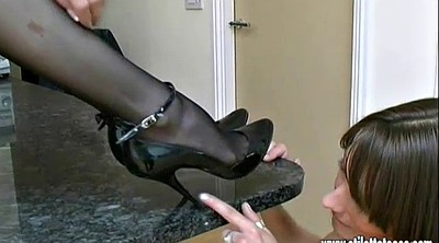 High heels, Shoes, Nylon foot, Nylon cock, Heel shoes
