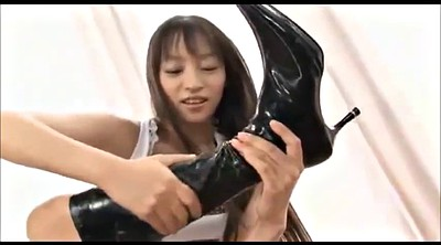 Japanese foot, Boots, Japanese bukkake, Asian foot, Leather, Asian fetish