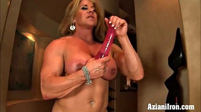 Compilation, Gym, Model, Fit, Huge dildo