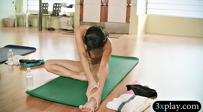 Teacher, Nude yoga, Exercise, Yoga teacher, Two girl