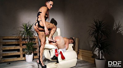 Lesbian mistress, Lesbian anal, Giant, Chained, Anal toy, Anal fingering