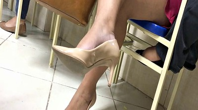 Candid, Tatoo, High heels milf, Milf feet, High-heels