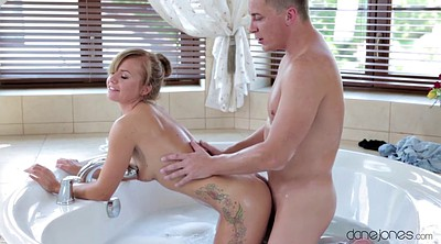 Baby, Bathtub, Czech couple, Cock riding