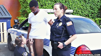 Police, Threesome interracial, Interracial threesome