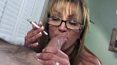 Smoking, Smoking blowjob, Milf handjob