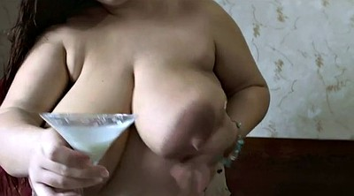 Milk, Milking, Bbw solo, Milk tits, Tit milk