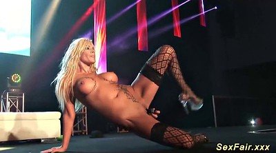 Stage, On stage, Naked on stage, German big tits, Big tits public