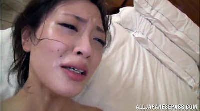 Double, Hairy fuck, Double penetrate, Asian face fuck