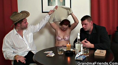 Old mature, Wife threesome, Strip, Grannies, Poker