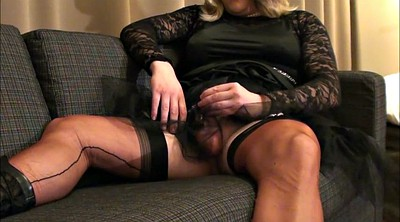 Nylon cum, Crossdressing, Satin