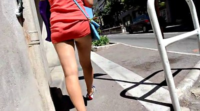 Walk, Public flashing, Amateur panties