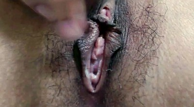 Close up pussy, Creampie hairy