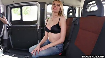 Car, In car, Shaved, Stretched pussy